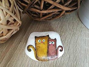 Dekorácie - Maľovaný kameň Priatelia - 11141400_