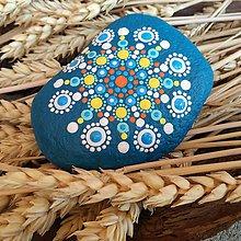 Dekorácie - Maľovaný kameň - mandala - 11142252_