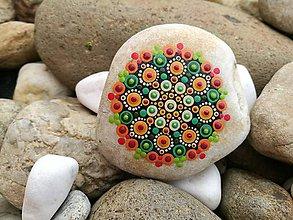 "Dekorácie - Maľovaný kameň mandala - ""Jeseň"" - 11142430_"
