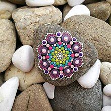 """Dekorácie - Maľovaný kameň - Mandala """"Kvet"""" - 11142566_"""