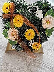 Dekorácie - Smutočná ikebana na dušičky - 11141689_