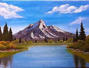 Obrazy - Olejomaľba krajinky - 11143900_