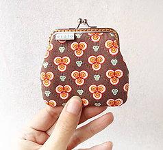 Peňaženky - Peňaženka mini Geometrické kvietky - 11140995_