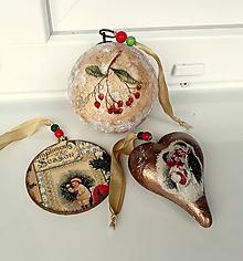 Dekorácie - sada vianočných ozdôb - 11141067_