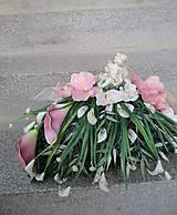 Dekorácie - dekorácia na dušičky s anjelikom, s kalami, s orchideou - 11146994_