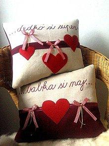 Úžitkový textil - Vianočná súprava vankúšikov - 11148194_