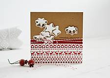 Papiernictvo - Vianočný pozdrav - hviezdičky - 11147610_