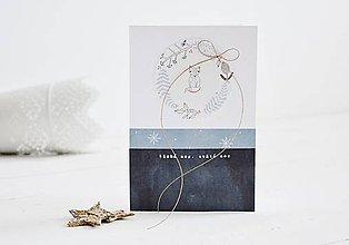 Papiernictvo - Vianočný pozdrav - zvieratká z lesa (Líška) - 11147790_