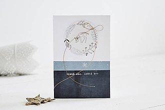 Papiernictvo - Vianočný pozdrav - zvieratká z lesa (Srnka) - 11147793_