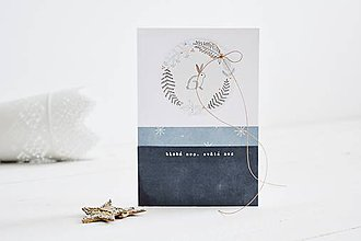 Papiernictvo - Vianočný pozdrav - zvieratká z lesa (Zajačik) - 11147801_