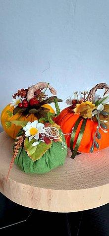Dekorácie - Jesenné tekvičky - 11147689_