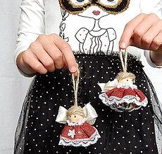 Dekorácie - Vianočná ozdoba - Anjelik / rolnička strieborná- cingi lingi - 11144226_