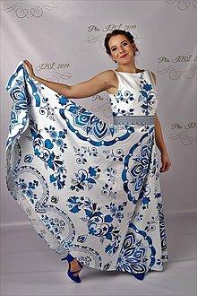 """Šaty - FLORAL FOLK """" Slovenská ornamentika """", spoločenské dlhé šaty - 11144164_"""