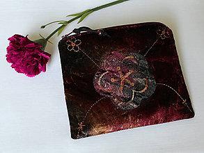 Taštičky - SAShEnka no. 215 - sametový kvet bordovozlatý - 11146914_