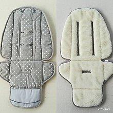 Textil - Podložka do kočíka CYBEX balios S proti poteniu 100 % merino top super wash HVIEZDIČKA ŠEDÁ - 11147951_