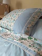 Úžitkový textil - Posteľné obliečky v modrom - 11145077_