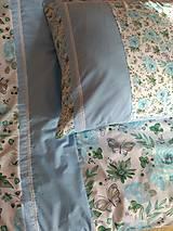 Úžitkový textil - Posteľné obliečky v modrom - 11145079_