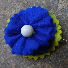 Odznaky/Brošne - brož kráľovská modrá - 11144150_