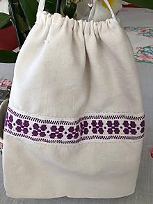 Úžitkový textil - Ľanové vrecko - 11145950_