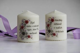 Svietidlá a sviečky - Duo sviečok k pamiatke zosnulých - 11144253_