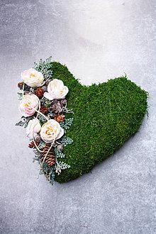 Dekorácie - Srdiečko na hrob - 11144678_