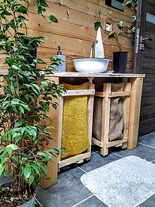 Košíky - Kôš na použité prádlo - žltý - 11146783_