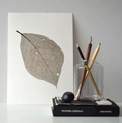 Kresby - List ořechu - hnědý, vel. A4 - 11144120_