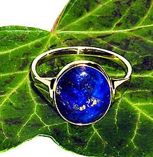 Prstene - ZLATÝ prsten LAPIS LAZULI EXTRA - 11146484_