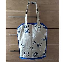 Veľké tašky - Prekrásna EKO TAŠKA KABELKA pre všetky ženy, teenegerky a dievčatá (Námornícka so stredne modrou lemovkou XL) - 11146266_
