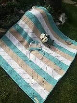 Úžitkový textil - Detská hačkovaná deka - 11147207_