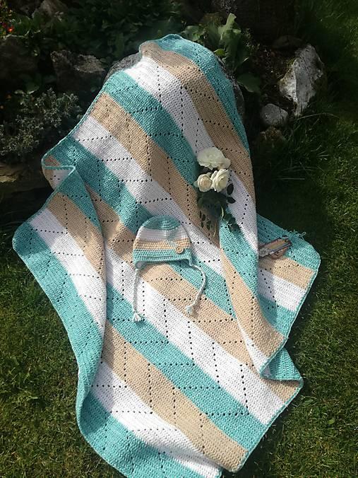 Detská hačkovaná deka