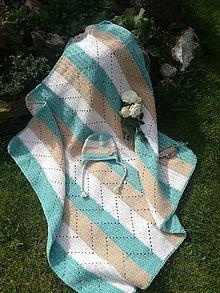 Úžitkový textil - Detská hačkovaná deka - 11147205_