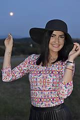 Tričká - Tričko na dojčenie s 3/4 rukávom - Čataj multicolor - 11144529_