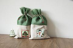Úžitkový textil - vianočné zelené - 11145489_