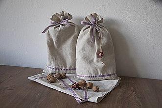 Úžitkový textil - Vrecúška plátené - 11145670_