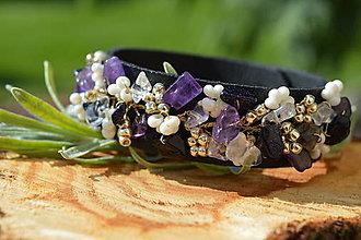 Náramky - Midnight bracelet - 11145428_
