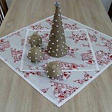 Úžitkový textil - Škandinávske Vianoce(1) - vianočný obrúsok štvorec 40x40 - 11144989_