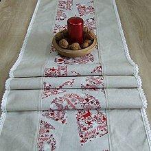 Úžitkový textil - Škandinávske Vianoce(1) - obrus stredový dlhý 160x40 - 11145038_