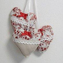 Úžitkový textil - Škandinávske Vianoce - dekoračné srdiečko 13x13 - 11145064_