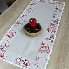 Úžitkový textil - Škandinávske Vianoce(1) - obrus obdĺžnik 100x40 - 11146213_