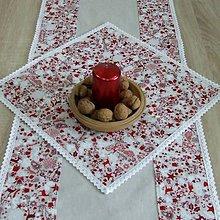 Úžitkový textil - Škandinávske Vianoce(2) - vianočný obrúsok štvorec 40x40 - 11146245_