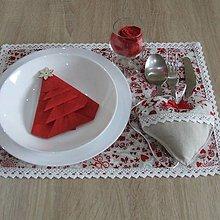 Úžitkový textil - Škandinávske Vianoce - vianočné prestieranie 28x40 - 11146273_