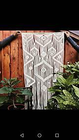Úžitkový textil - Macrame záves - 11145979_