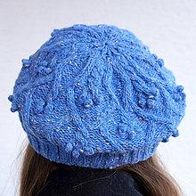 Čiapky - Modrá baretka - 100% tvid - 11143973_