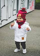 Detské čiapky - Prechodná čiapka PomPom - 11144478_