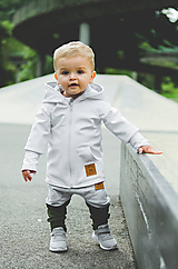 Detské oblečenie - Prechodná softshell bunda White - 11144671_