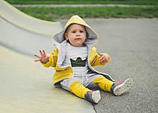Detské oblečenie - Prechodná softshell bunda Mustard - 11144717_