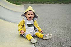 Detské oblečenie - Prechodná softshell bunda Mustard - 11144723_