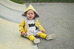 Detské oblečenie - Prechodná softshell bunda Mustard - 11144729_