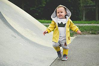 Detské oblečenie - Prechodná softshell bunda Mustard - 11144718_